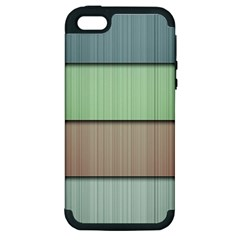 Lines Stripes Texture Colorful Apple iPhone 5 Hardshell Case (PC+Silicone)