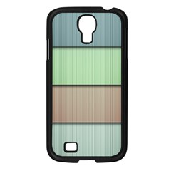 Lines Stripes Texture Colorful Samsung Galaxy S4 I9500/ I9505 Case (Black)