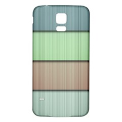 Lines Stripes Texture Colorful Samsung Galaxy S5 Back Case (White)