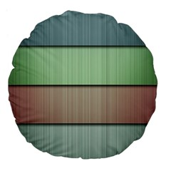 Lines Stripes Texture Colorful Large 18  Premium Flano Round Cushions