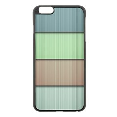 Lines Stripes Texture Colorful Apple iPhone 6 Plus/6S Plus Black Enamel Case