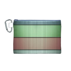 Lines Stripes Texture Colorful Canvas Cosmetic Bag (M)