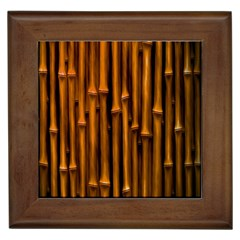 Abstract Bamboo Framed Tiles