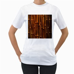 Abstract Bamboo Women s T Shirt (white) (two Sided)