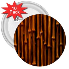 Abstract Bamboo 3  Buttons (10 pack)