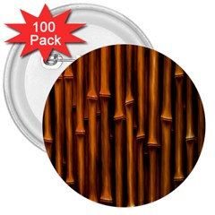 Abstract Bamboo 3  Buttons (100 pack)