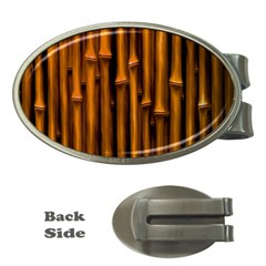 Abstract Bamboo Money Clips (oval)