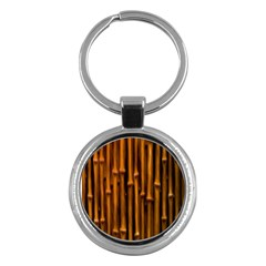 Abstract Bamboo Key Chains (round)