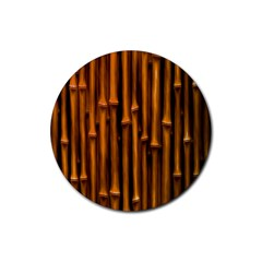 Abstract Bamboo Rubber Coaster (round)