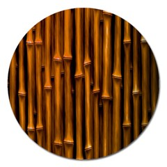 Abstract Bamboo Magnet 5  (Round)