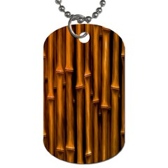 Abstract Bamboo Dog Tag (one Side)