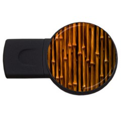 Abstract Bamboo Usb Flash Drive Round (2 Gb)