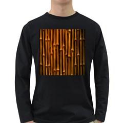 Abstract Bamboo Long Sleeve Dark T-Shirts