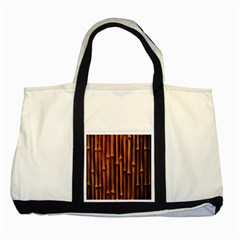 Abstract Bamboo Two Tone Tote Bag