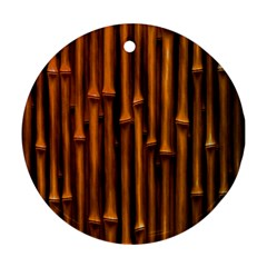 Abstract Bamboo Round Ornament (two Sides)