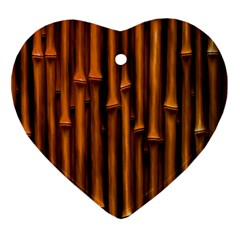 Abstract Bamboo Heart Ornament (two Sides)
