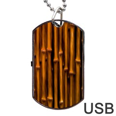 Abstract Bamboo Dog Tag USB Flash (One Side)