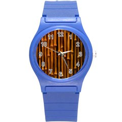 Abstract Bamboo Round Plastic Sport Watch (s)