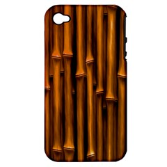 Abstract Bamboo Apple iPhone 4/4S Hardshell Case (PC+Silicone)