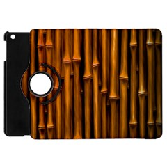 Abstract Bamboo Apple iPad Mini Flip 360 Case