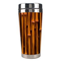 Abstract Bamboo Stainless Steel Travel Tumblers