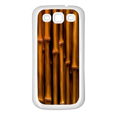 Abstract Bamboo Samsung Galaxy S3 Back Case (White)
