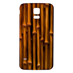 Abstract Bamboo Samsung Galaxy S5 Back Case (White)