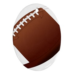 Football American Sport Ball Ornament (oval)