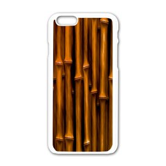 Abstract Bamboo Apple iPhone 6/6S White Enamel Case