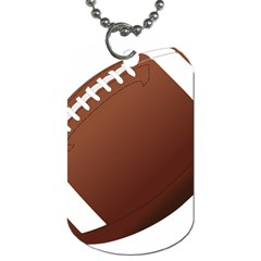 Football American Sport Ball Dog Tag (two Sides)