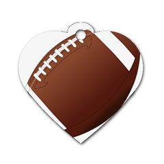 Football American Sport Ball Dog Tag Heart (two Sides)
