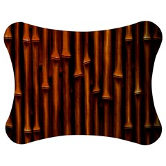 Abstract Bamboo Jigsaw Puzzle Photo Stand (Bow)