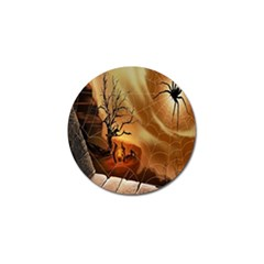 Digital Art Nature Spider Witch Spiderwebs Bricks Window Trees Fire Boiler Cliff Rock Golf Ball Marker (10 Pack)