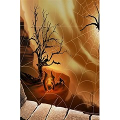 Digital Art Nature Spider Witch Spiderwebs Bricks Window Trees Fire Boiler Cliff Rock 5.5  x 8.5  Notebooks