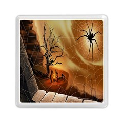 Digital Art Nature Spider Witch Spiderwebs Bricks Window Trees Fire Boiler Cliff Rock Memory Card Reader (square)