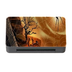 Digital Art Nature Spider Witch Spiderwebs Bricks Window Trees Fire Boiler Cliff Rock Memory Card Reader with CF