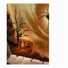 Digital Art Nature Spider Witch Spiderwebs Bricks Window Trees Fire Boiler Cliff Rock Small Garden Flag (Two Sides)
