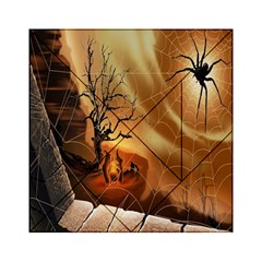 Digital Art Nature Spider Witch Spiderwebs Bricks Window Trees Fire Boiler Cliff Rock Acrylic Tangram Puzzle (6  x 6 )
