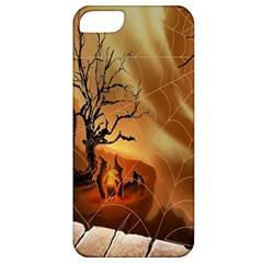 Digital Art Nature Spider Witch Spiderwebs Bricks Window Trees Fire Boiler Cliff Rock Apple iPhone 5 Classic Hardshell Case