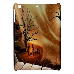 Digital Art Nature Spider Witch Spiderwebs Bricks Window Trees Fire Boiler Cliff Rock Apple Ipad Mini Hardshell Case