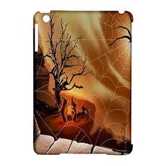 Digital Art Nature Spider Witch Spiderwebs Bricks Window Trees Fire Boiler Cliff Rock Apple Ipad Mini Hardshell Case (compatible With Smart Cover)