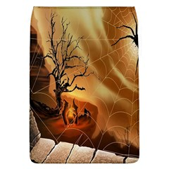 Digital Art Nature Spider Witch Spiderwebs Bricks Window Trees Fire Boiler Cliff Rock Flap Covers (L)