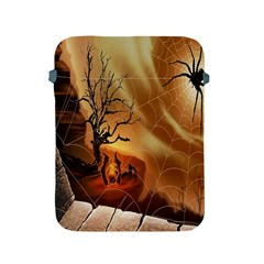 Digital Art Nature Spider Witch Spiderwebs Bricks Window Trees Fire Boiler Cliff Rock Apple iPad 2/3/4 Protective Soft Cases
