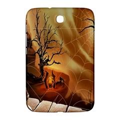 Digital Art Nature Spider Witch Spiderwebs Bricks Window Trees Fire Boiler Cliff Rock Samsung Galaxy Note 8 0 N5100 Hardshell Case
