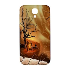 Digital Art Nature Spider Witch Spiderwebs Bricks Window Trees Fire Boiler Cliff Rock Samsung Galaxy S4 I9500/I9505  Hardshell Back Case