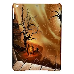 Digital Art Nature Spider Witch Spiderwebs Bricks Window Trees Fire Boiler Cliff Rock iPad Air Hardshell Cases