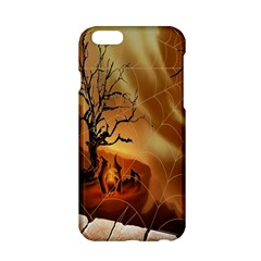 Digital Art Nature Spider Witch Spiderwebs Bricks Window Trees Fire Boiler Cliff Rock Apple iPhone 6/6S Hardshell Case