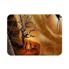 Digital Art Nature Spider Witch Spiderwebs Bricks Window Trees Fire Boiler Cliff Rock Double Sided Flano Blanket (mini)