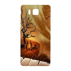 Digital Art Nature Spider Witch Spiderwebs Bricks Window Trees Fire Boiler Cliff Rock Samsung Galaxy Alpha Hardshell Back Case