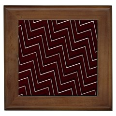 Lines Pattern Square Blocky Framed Tiles